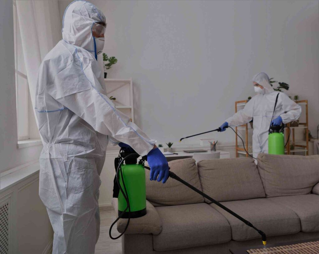 people in hazmats making disinfection in flat L84HRKG compressed