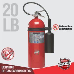 Extintor de 20lb UL CO2 tipo BC