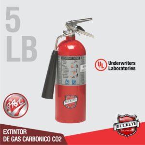 Extintor de 05lb UL CO2 tipo BC